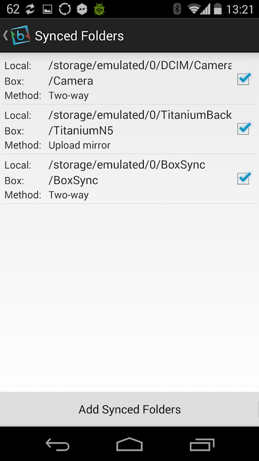 Auto Box Sync - screenshot