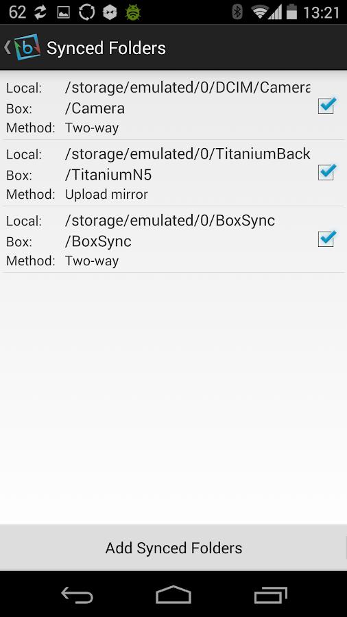 Auto Box Sync - screenshot
