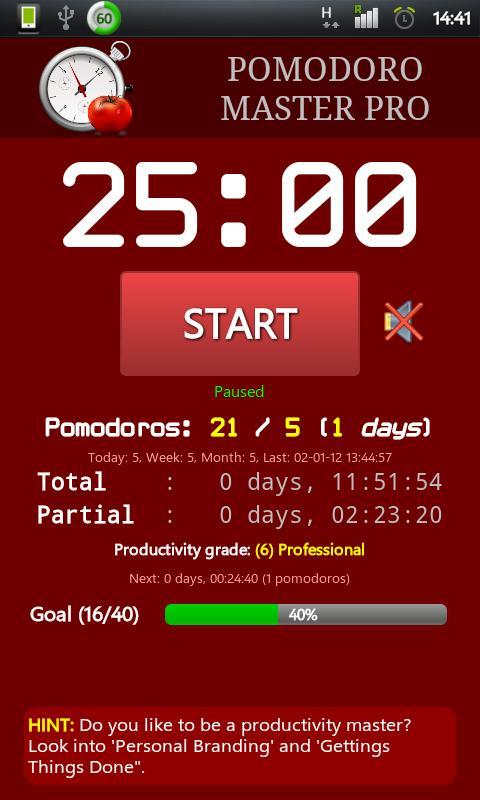Pomodoro Master- screenshot