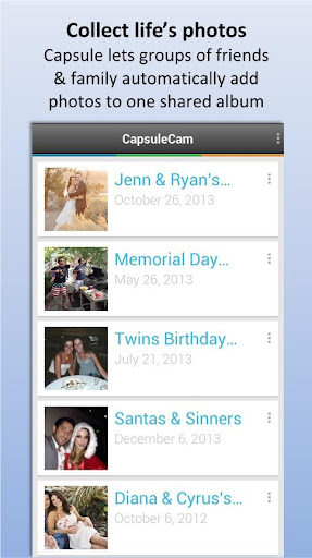CapsuleCam - Wedding Photo App
