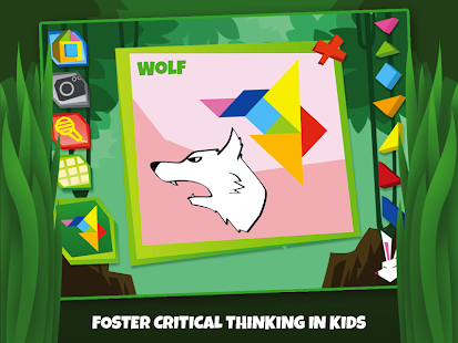 Tangram Puzzles: Wild Animals - screenshot thumbnail