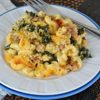 Italian Sausage and Kale Macaroni and Cheese.
