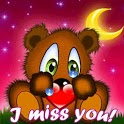 Teddy Bear At Night I Miss You icon