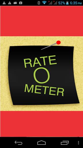Rate-O-Meter
