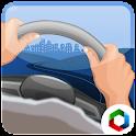 Simulator driving car icon