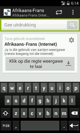 Afrikaans-French Dictionary