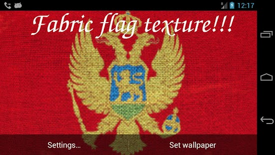 3D Montenegro Flag LWP - screenshot thumbnail