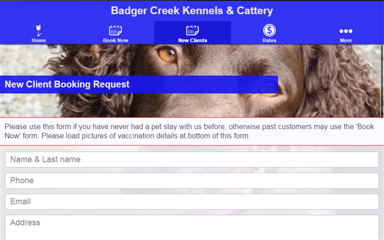 Badger Creek Kennels & Cattery- screenshot