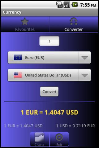 Forex árfolyamok – képernyőkép