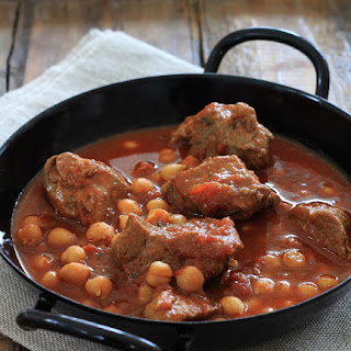 Spicey Lamb Stew and Chick Peas