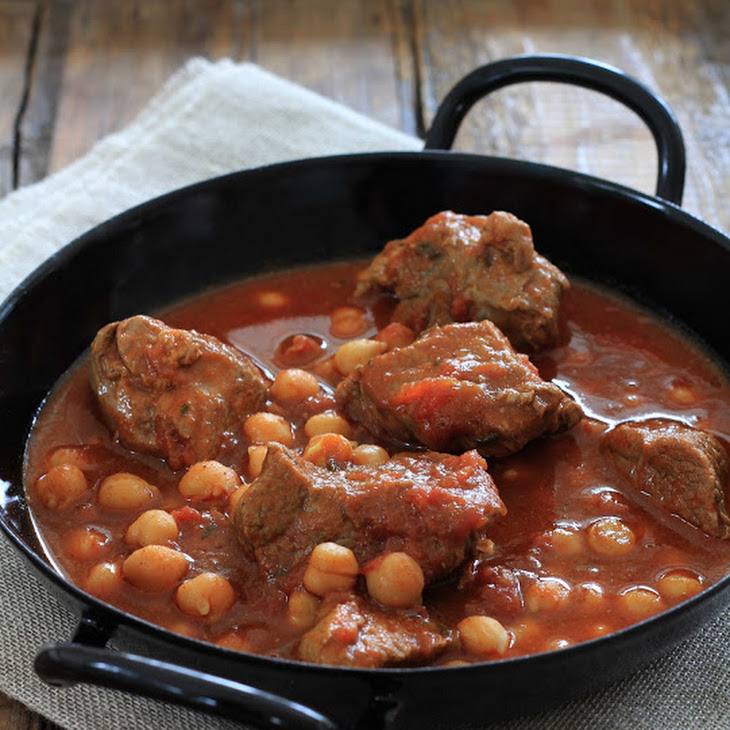 Spicey Lamb Stew and Chick Peas Recipe