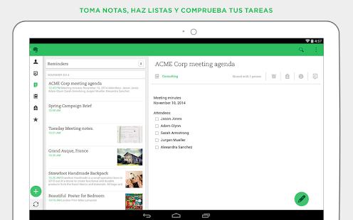 Evernote - screenshot thumbnail