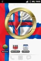 Screenshot of Faroe Islands flag clocks