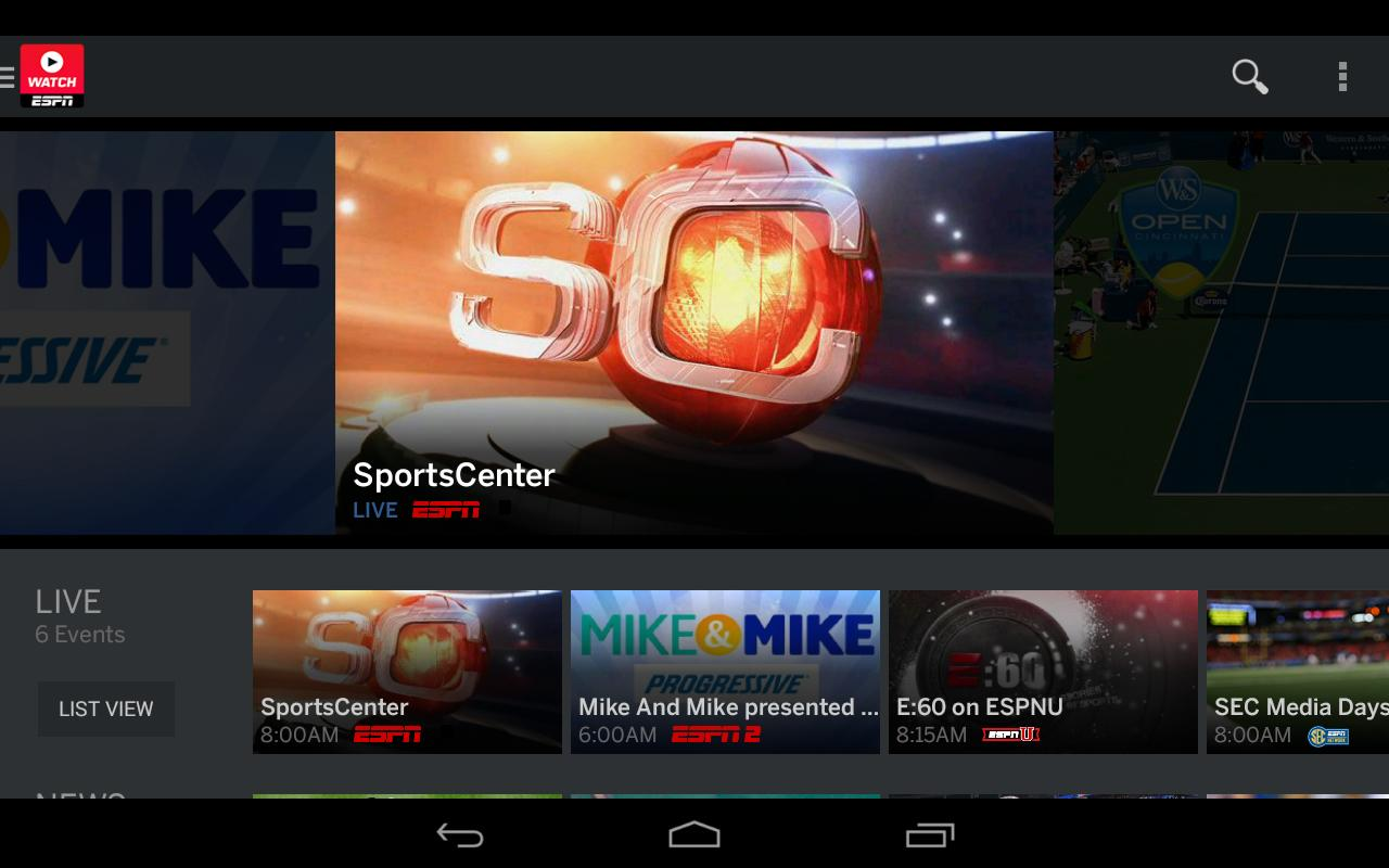 WatchESPN- screenshot