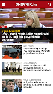 Dnevnik.hr- screenshot thumbnail