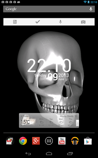 Skull 3D Gyro Live Wallpaper