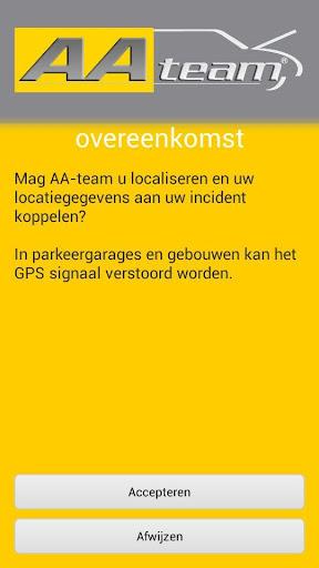 AA-team pechhulp locatie app