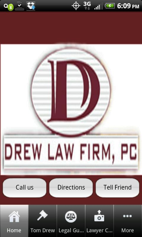 Drew Law Firm - screenshot