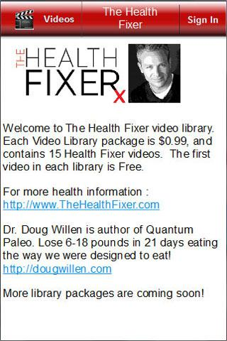 The Health Fixer: Video Tips - screenshot