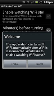 WiFi Auto Turn Off- screenshot thumbnail