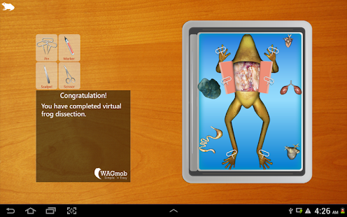 Frog Dissection for tablet- screenshot thumbnail