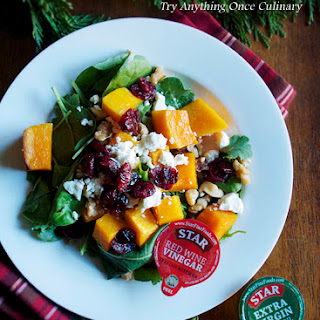 Roasted Squash & Spinach Salad