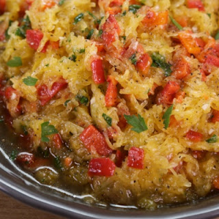 Spaghetti Squash with Roasted Red Peppers Recipe