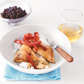 Sautéed Chicken and Peppers with Coconut Rice