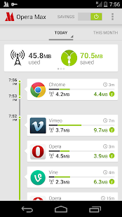 Opera Max beta for Android - screenshot thumbnail