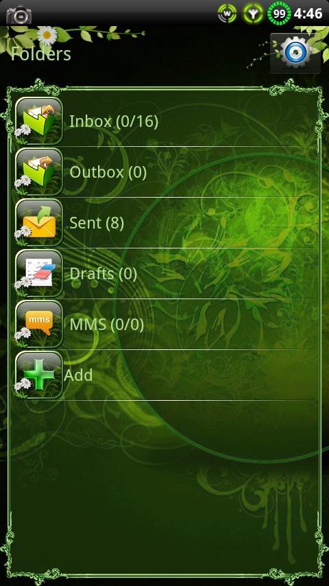 Nature v2 GO SMS Theme - screenshot