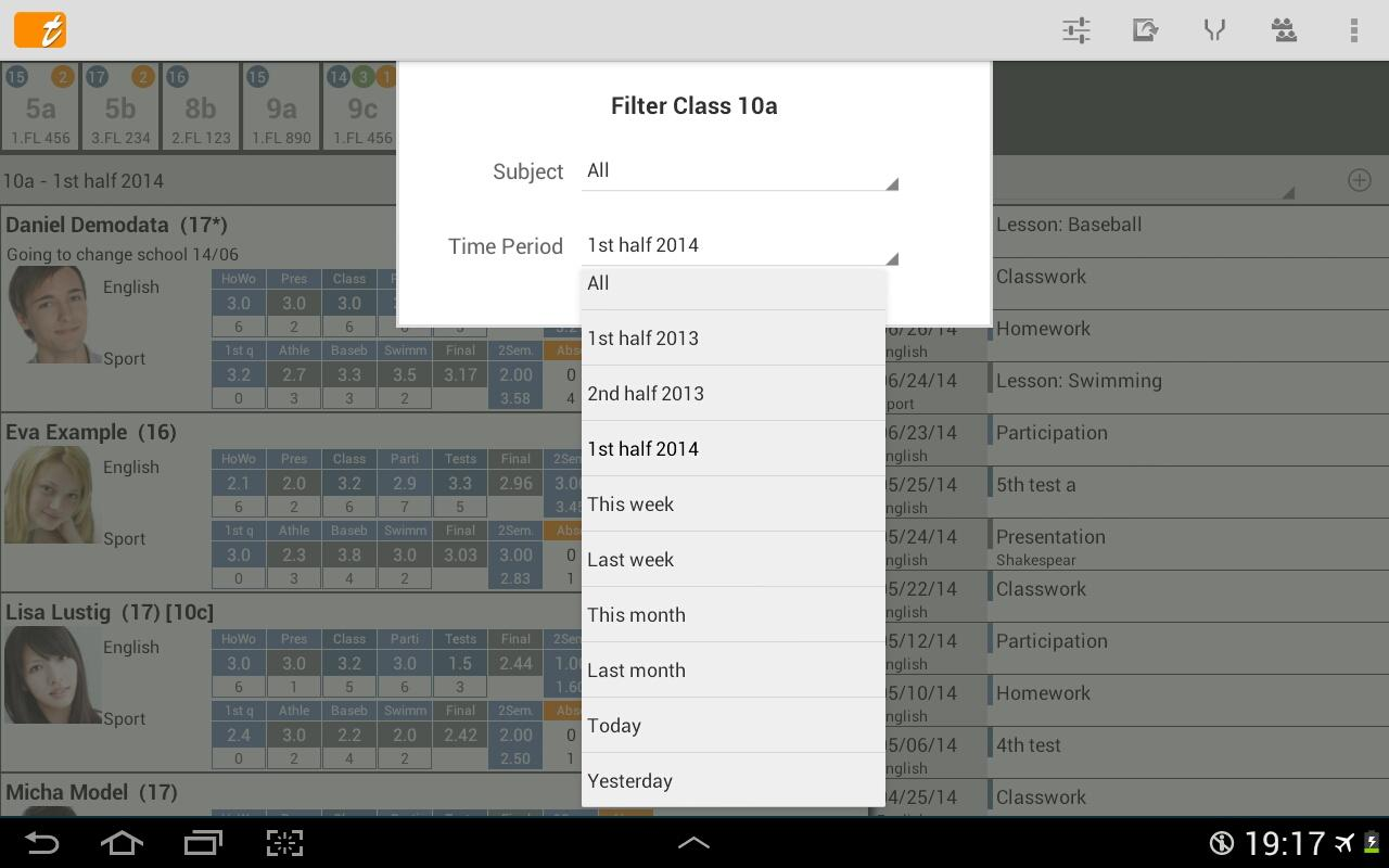 TAPUCATE - Teacher App- screenshot