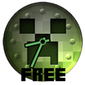 Free Creeper Clock Widget