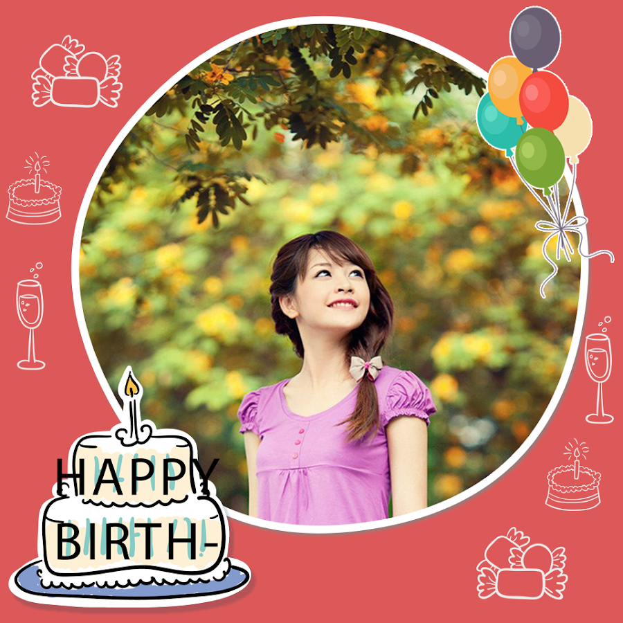 happy birthday frame android apps on google play