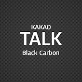 Kakao talk theme black carbon