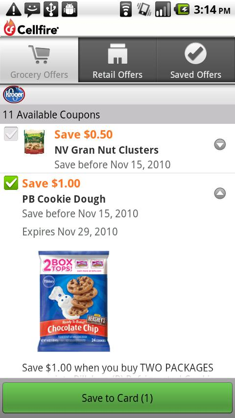 Cellfire Grocery Coupons - screenshot