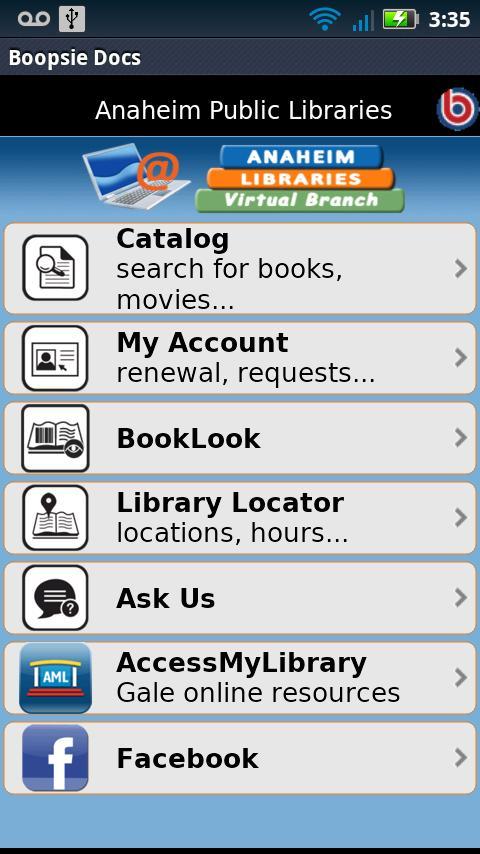 Anaheim Library 2Go!- screenshot