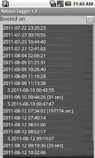 Reboot logger - screenshot thumbnail
