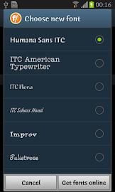 Humana Sans ITC FlipFont Screenshot 6