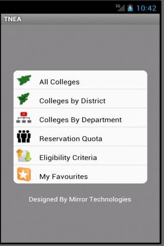 TNEA Android application- screenshot