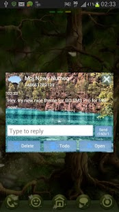 GO SMS Theme Lake Mountains - screenshot thumbnail