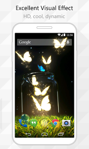 Shine Butterfly Live Wallpaper