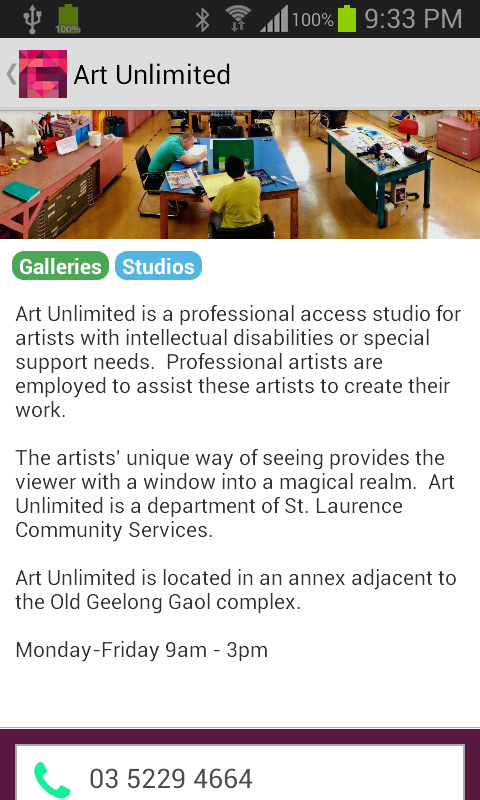 Geelong Arts & Culture Trails- screenshot