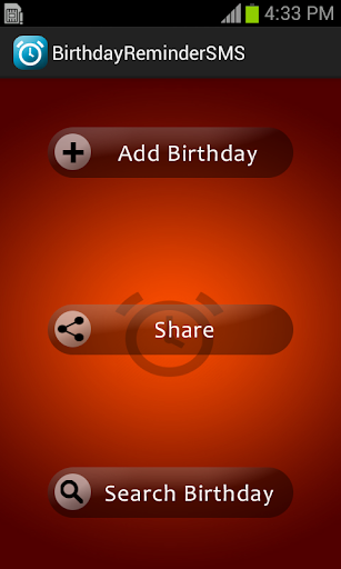 Birthday Reminder With SMS