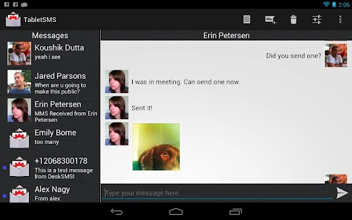 TabletSMS by DeskSMS - screenshot thumbnail