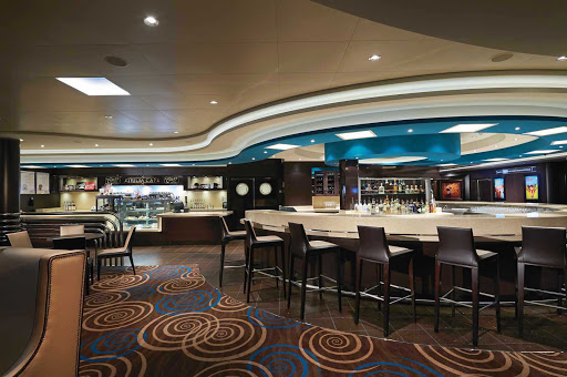 Norwegian-Getaway-Atrium-Cafe - Have a grand time dining or drinking while taking in views of three decks from the Atrium Cafe & Bar aboard Norwegian Getaway.