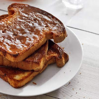 Cinnamon Toast with Butter and Honey.