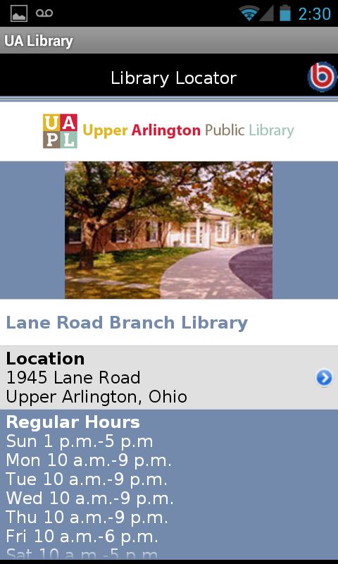 Upper Arlington Public Library - screenshot