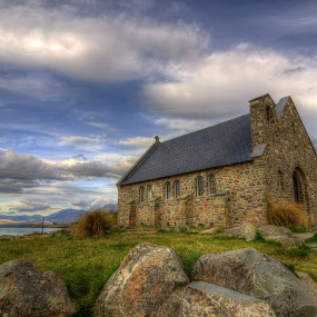 Church of the Good Shepherd Lake Tekapo by Rozaitonisah Razali - Buildings & Architecture Places of Worship ( building, lake, architecture )