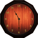 Analog Clock - Wood Theme 1