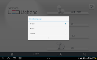 Screenshot of Samsung LED Lamp